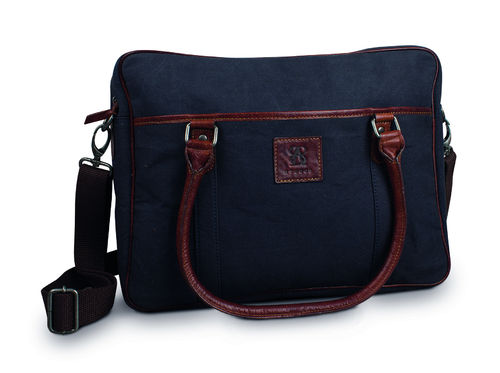 Computer bag Canvas Baway Navy