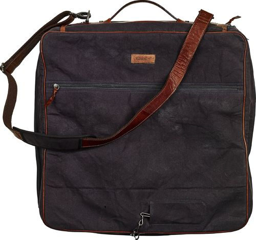 Travel suit bag Baway navy canvas/nahka